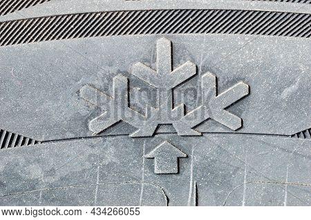 Pruszcz Gdanski, Poland - July 1, 2021: Detail With Snowflake Icon On Zeetex Winter Tyre.