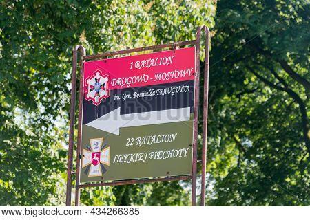 Deblin, Poland - June 13, 2021: 1st Road-bridge Battalion And 22nd Light Infantry Battalion (1 Batal