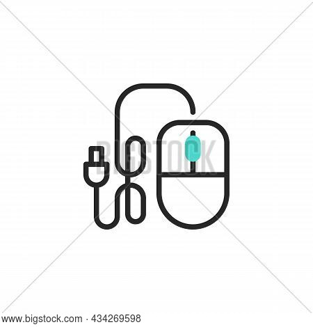 Computer Mouse Line Icon. Linear Style Sign For Mobile Concept And Web Design. Pc Mice Outline Vecto