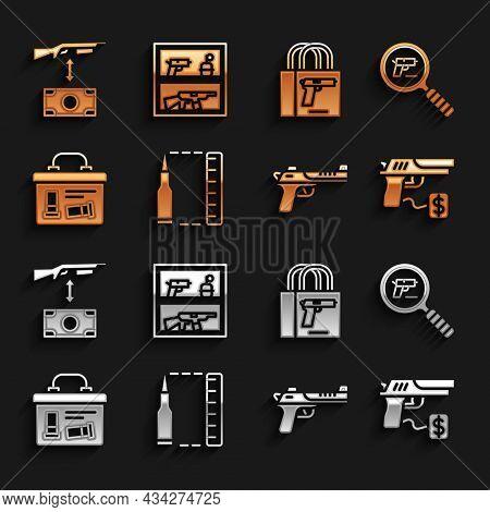 Set Bullet, Pistol Or Gun Search, Buying Pistol, Desert Eagle, Military Ammunition Box, Assault Rifl