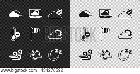 Set Cloud, Weather Forecast, Rainbow With Clouds, Windy Weather, Earth Planet, Time To Sleep, Meteor