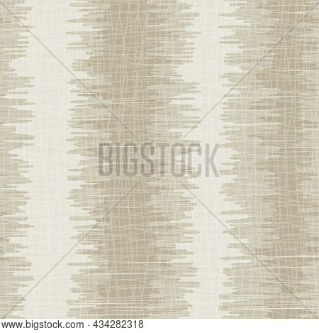 Shibori Style Striped Vector Seamless Vector Pattern Background. Scribbled Vertical Stripes Backdrop