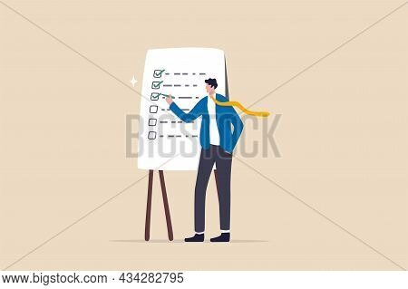 Completed Checklist, Finishing Project Tasks Or Work Done Conclusion, Project Management Or Process