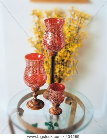 Mosaic Glass Candle Lamps