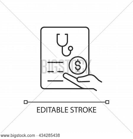 Paid Sick Days Linear Icon. Keep Employees Healthy. Decreasing Employee Absenteeism. Thin Line Custo