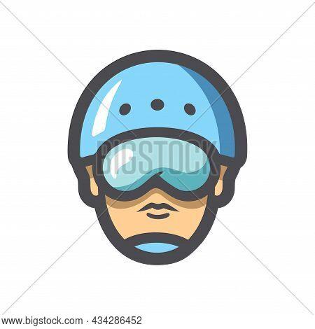 Canoeing And Rafting Helmet Vector Icon Cartoon Illustration