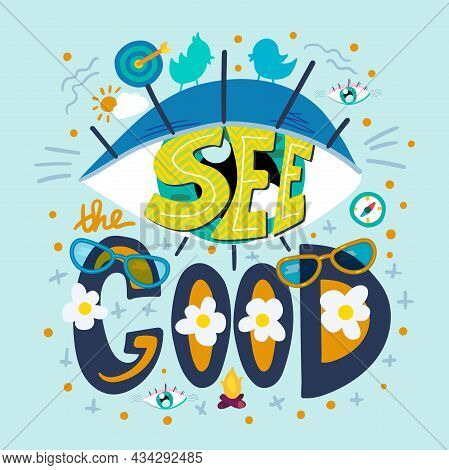 See Good Thing Around Wisdom Quote Text Vector