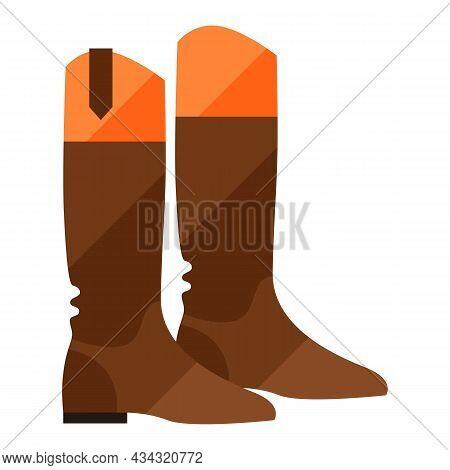 Stylized Illustration Of Horseman Boots. Image For Design Or Decoration.