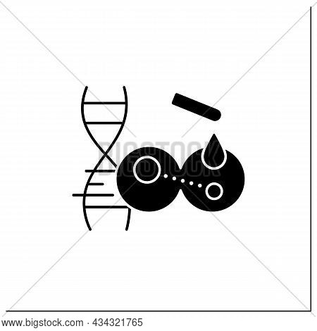 Transgene Glyph Icon. Gene Transferred From One Organism To Another. Change In Organism Phenotype.ge