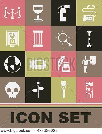 Set Castle Tower, Museum Guide, Human Broken Bone, Fire Extinguisher, Ancient Column, Portrait Museu