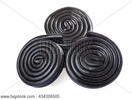 Licorice Wheels Isolated On A White Background