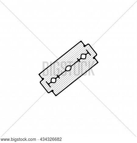 Blade Razor Vector Thin Line Icon. Blade Razor Hand Drawn Thin Line Icon.
