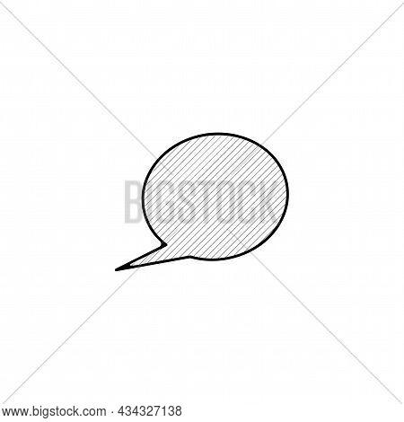 Speech Bubble Vector Thin Line Icon. Dialogue Bubble Hand Drawn Thin Line Icon.