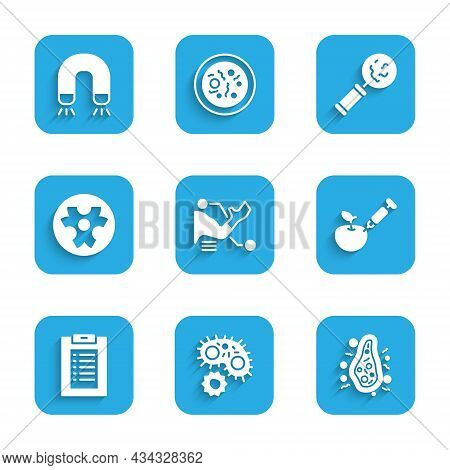 Set Prosthesis Hand, Virus, Bacteria, Genetically Modified Apple, Clinical Record, Biohazard Symbol,