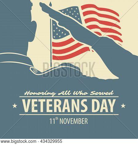 Veterans Day Poster Or Banner Design Template
