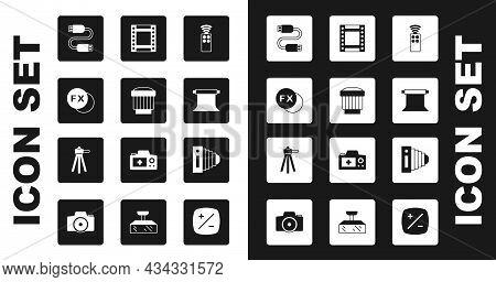 Set Remote Control For Camera, Camera Photo Lens, Photo Fx, Usb Cable Cord, Empty Studio, Roll Cartr