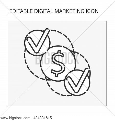 Referral Program Line Icon.cooperation. Searching For Talented Workers. Digital Marketing Concept. I