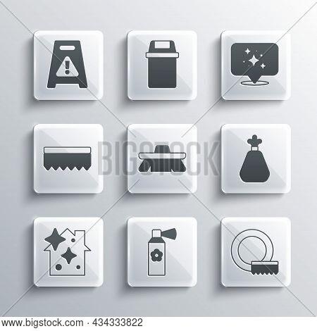 Set Air Freshener Spray Bottle, Washing Dishes, Garbage Bag, Brush For Cleaning, Home Service, Spong