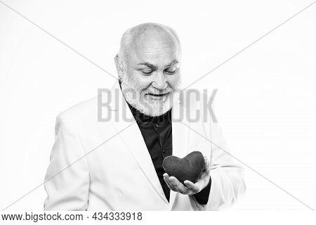 Health Care Treatment. World Heart Day. Problems With Heart. Bearded Businessman. Heart Failure. Val