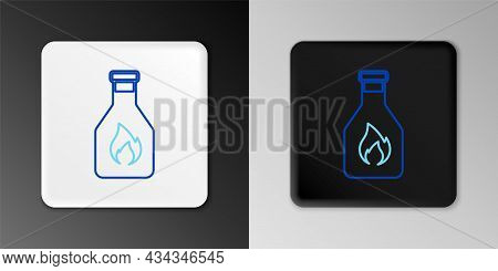 Line Ketchup Bottle Icon Isolated On Grey Background. Colorful Outline Concept. Vector