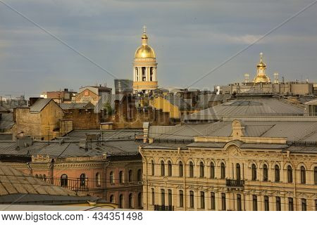 Saint-petersburg, Russia. 04 June 2018. View From The Roof On The Saint Vladimir Orthodox Cathedral