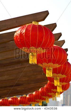 Chinese Lanterns In Circle