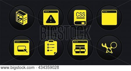 Set Browser Files, Window, Clipboard With Checklist, Mysql Code, Books About Programming, Exclamatio