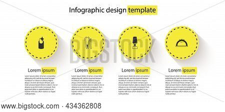 Set Nail Manicure, Cutter, Milling For And Manicure Lamp. Business Infographic Template. Vector