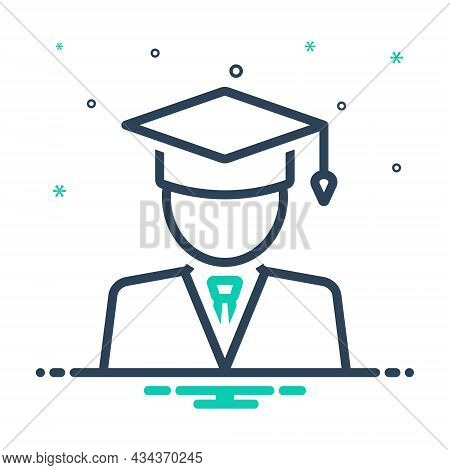 Mix Icon For Student People University Graduation Education Degree Bachelor Graduation-cap Academic