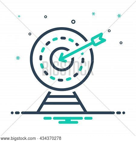Mix Icon For Exactly Accurately Archery Shooting Range Achievement Target Goal Shot