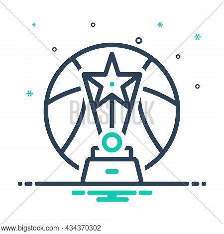 Mix Icon For Tournament Competition Game Contest Championship Winner Reward Achievement Trophy