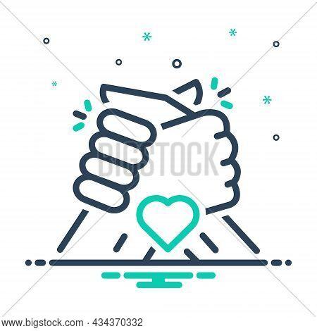 Mix Icon For Friend Colleague Friendship Partner Buddy Chum Group Partner Fellow Companion Handshake