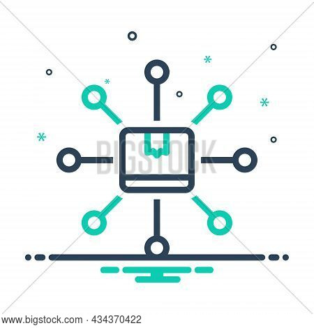 Mix Icon For Distribution Distribute Connect Container Exchange Content Share Delivery Spread Box