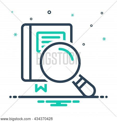 Mix Icon For Examine Check-up Look-into Inspect Survey Study Research Review Scrutinize