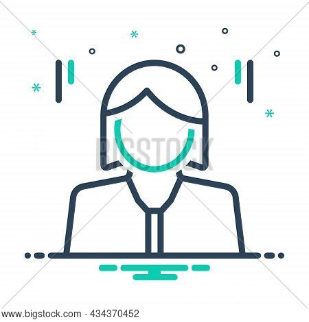 Mix Icon For Mrs Madame She Daughter Girl Lady Woman Human Teenager Young-woman Lass Wench Damsel