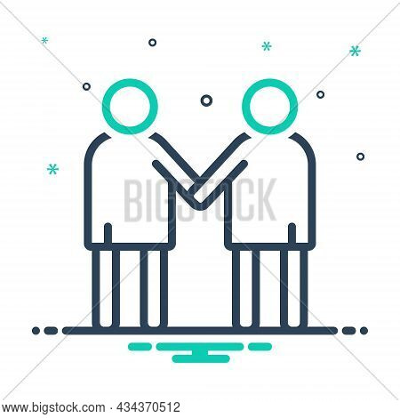 Mix Icon For Friendship Rapprochement Buddy Coalition Union Alliance Combination Team Colleagues Peo
