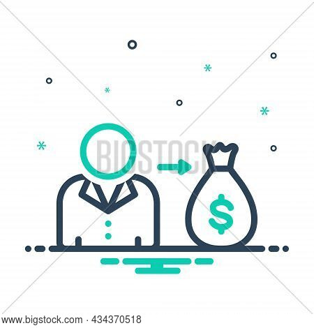 Mix Icon For Its Money His Her Your Mine Wage Currency Allure Attractiveness Interest