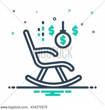 Mix Icon For Retirement Rocking-chair Retire Armchair Deposit Money Give-up-work Old-age Wealth Pens