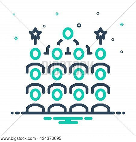 Mix Icon For Congress Conference Convention Gathering Association Assembly People Crowd Protagonist