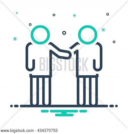 Mix Icon For Twin Dual Double Duplicate Coequal Common Equal Together People