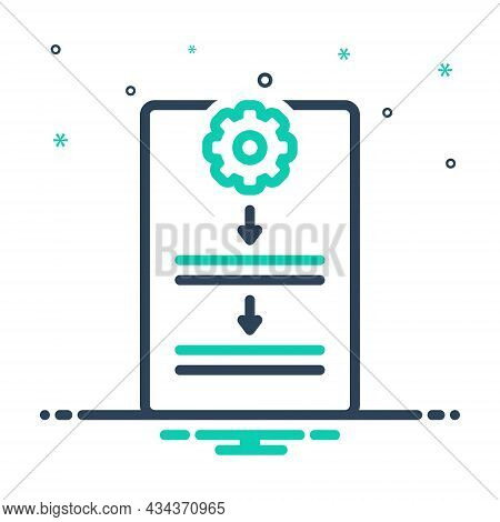Mix Icon For Procedure Process Protocol Document Guideline Work Organization Compliance Policy