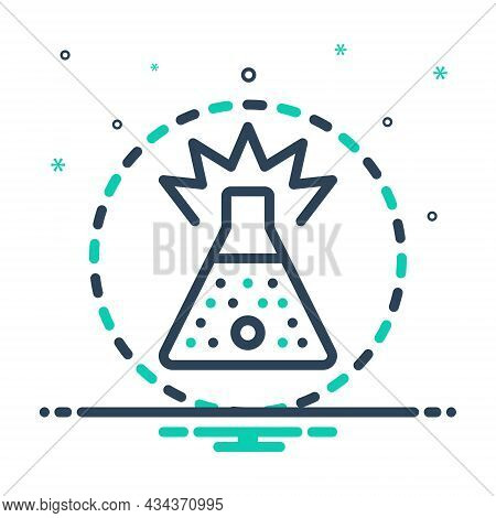Mix Icon For Substance Stuff Material Chemical Compositive Beaker Flammable Experiment Flask Laborat