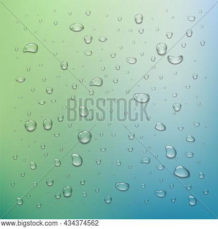Realistic Vector Water Drops Transparent Background. Clean Drop Condensation . Png Drops, Rain Dropl