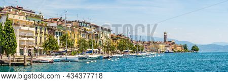 Salo, Italy - June 28,2021 - Panoramic View At The Promenade Of Salo. Salo Is A Town And Comune In T