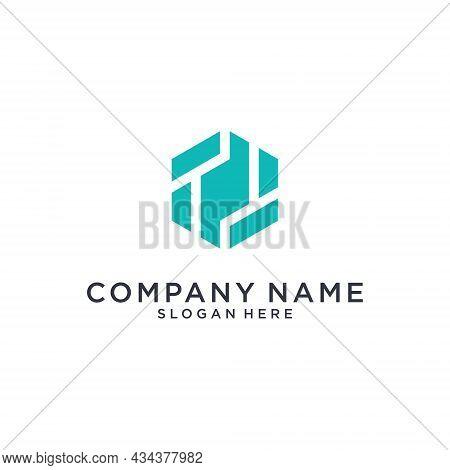 T Or Tt Letter Logo Design Template Vector On White Background.