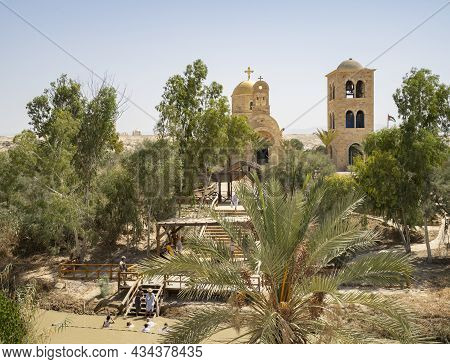 Bethany, Jordan - September 26th, 2021: A Baptismal Site On The Jordan River, Where A Few Believers