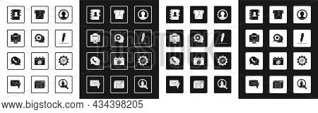 Set Create Account Screen, Speech Bubble Chat, Chat Messages Notification On Monitor, Address Book,