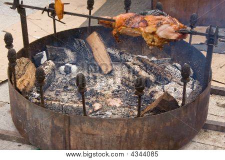 Spit Roasted Meat