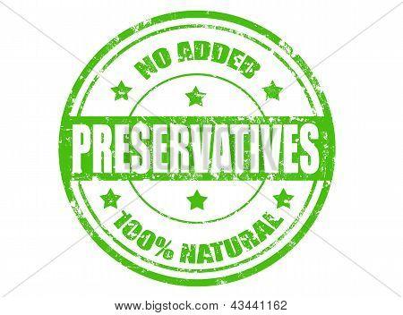 No Added Preservatives Stamp