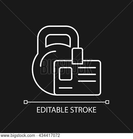 Gym Membership White Linear Icon For Dark Theme. Providing Health Initiatives. Employee Discount. Th
